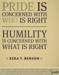 increased by humility